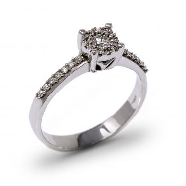 Solitaire Engagement ring with diamonds CT 0.28