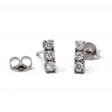 Orecchini trilogy con diamanti 0.42 CT. vista frontale